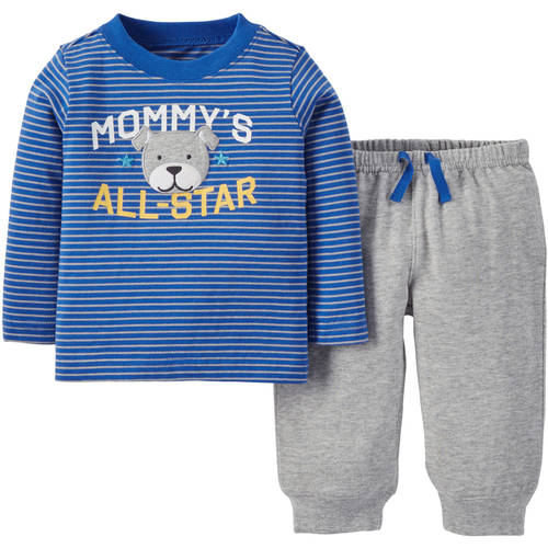 Child of Mine by Carter's Newborn Baby Boys' Longsleeve Top and Pant Outfit Set 2 Pieces