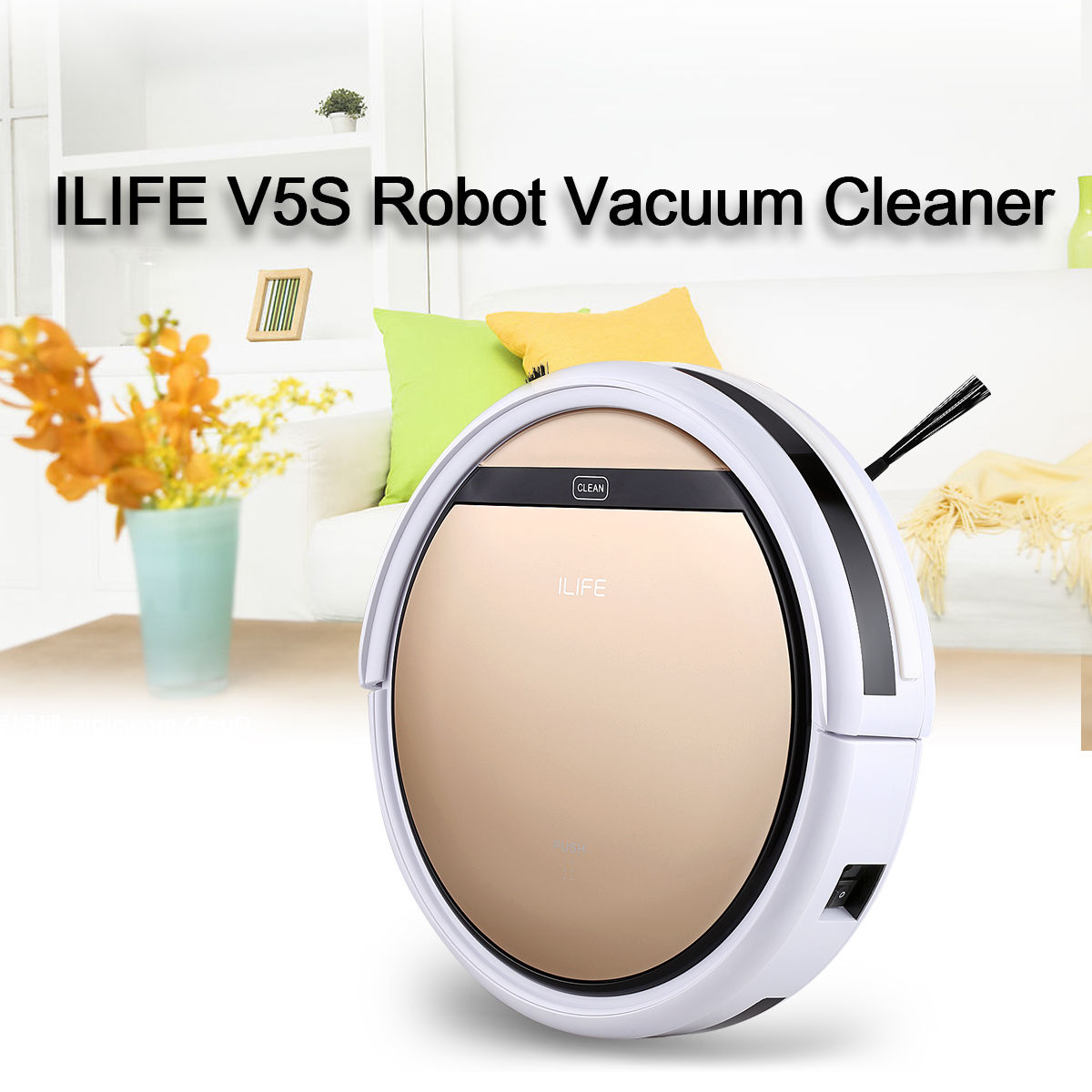 New High Performance Smart Rechargeable vacuum cleaner on Sale Cleaning Robot Floor Sweeper Home Cleaning Automatic Microfiber ILIFEV5S Rose Gold