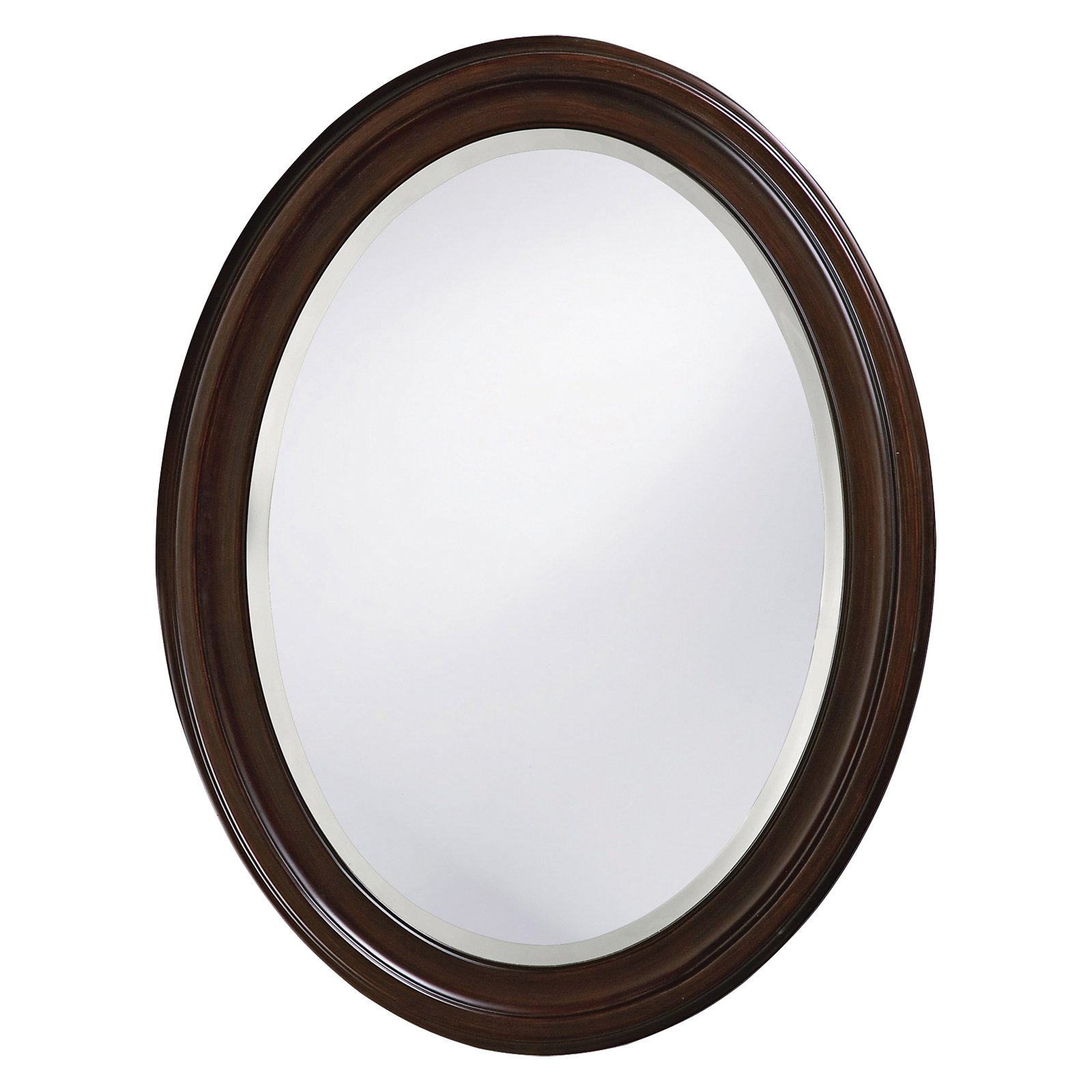 Belham Living Oval Wall Mirror Brown 25W x 33H in. by Howard Elliott