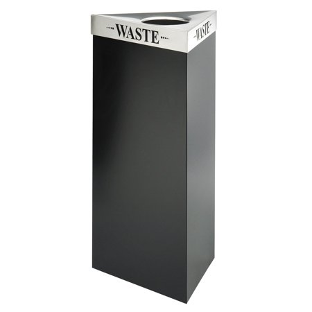 Safco Trifecta 21 Gallon Waste Receptacle Black Recycling