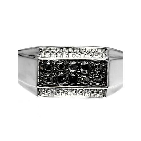 Mens Black Diamond Fashion Ring (0.60 ct)