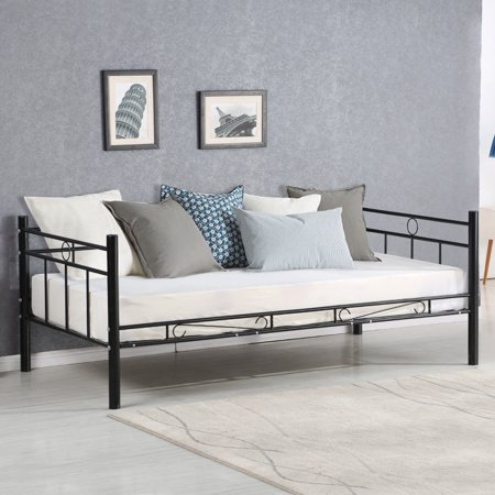 Costway Metal Twin Size Daybed Sofa Beds Frame Guest Dorm