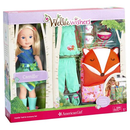 American Girl WellieWishers, Camille Doll & Accessories Set (Mckenna American Girl Doll)