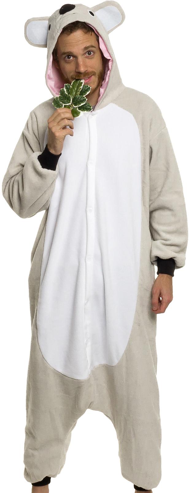 Silver Lilly Unisex Adult Pajamas - Plush One Piece Cosplay Koala Animal  Costume Sc 1 St Walmart 801c9c28e