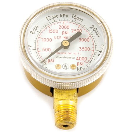 forney industries 87727 high pressure regulator gauge 0 4000 psi 2 in dial 1 4 in ntp. Black Bedroom Furniture Sets. Home Design Ideas