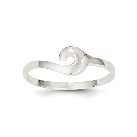 - Women Fashion Solid 925 Sterling Silver Polished Swirl Cocktail Ring For Gift Sz 6,7,8