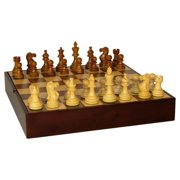 Sheesham American Emperor Chess Set With Walnut Chest