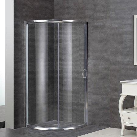 Aston 36 X 75 Single Sliding Semi Frameless Shower Door