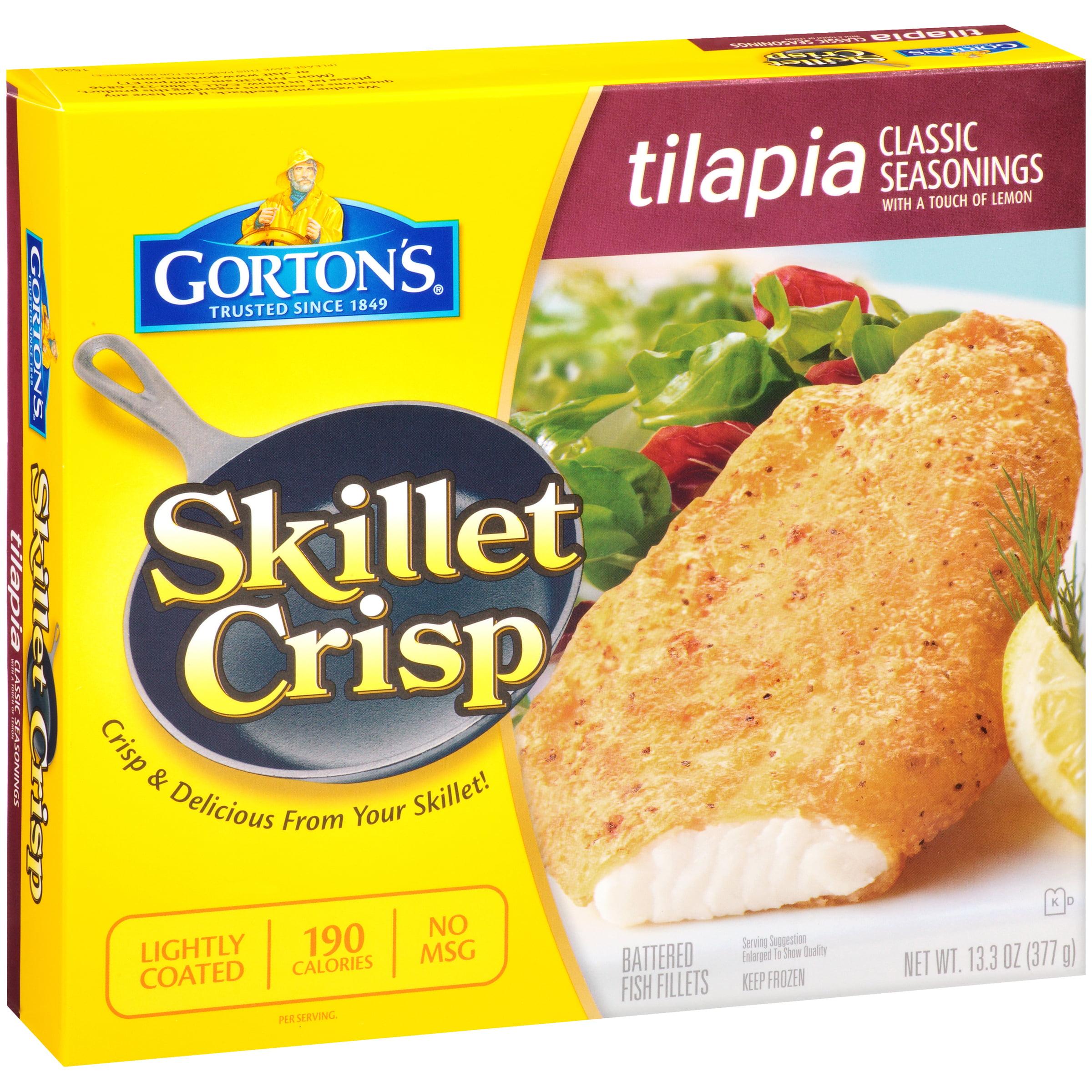 Gorton's® Skillet Crisp Classic Seasonings Tilapia 13.3 oz. Box