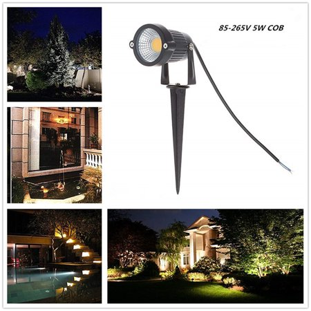 5W LED Landscape Lights 12V 24V Garden Lights Waterproof Warm White Walls Trees Flags Outdoor Spotlights with Spike Stand