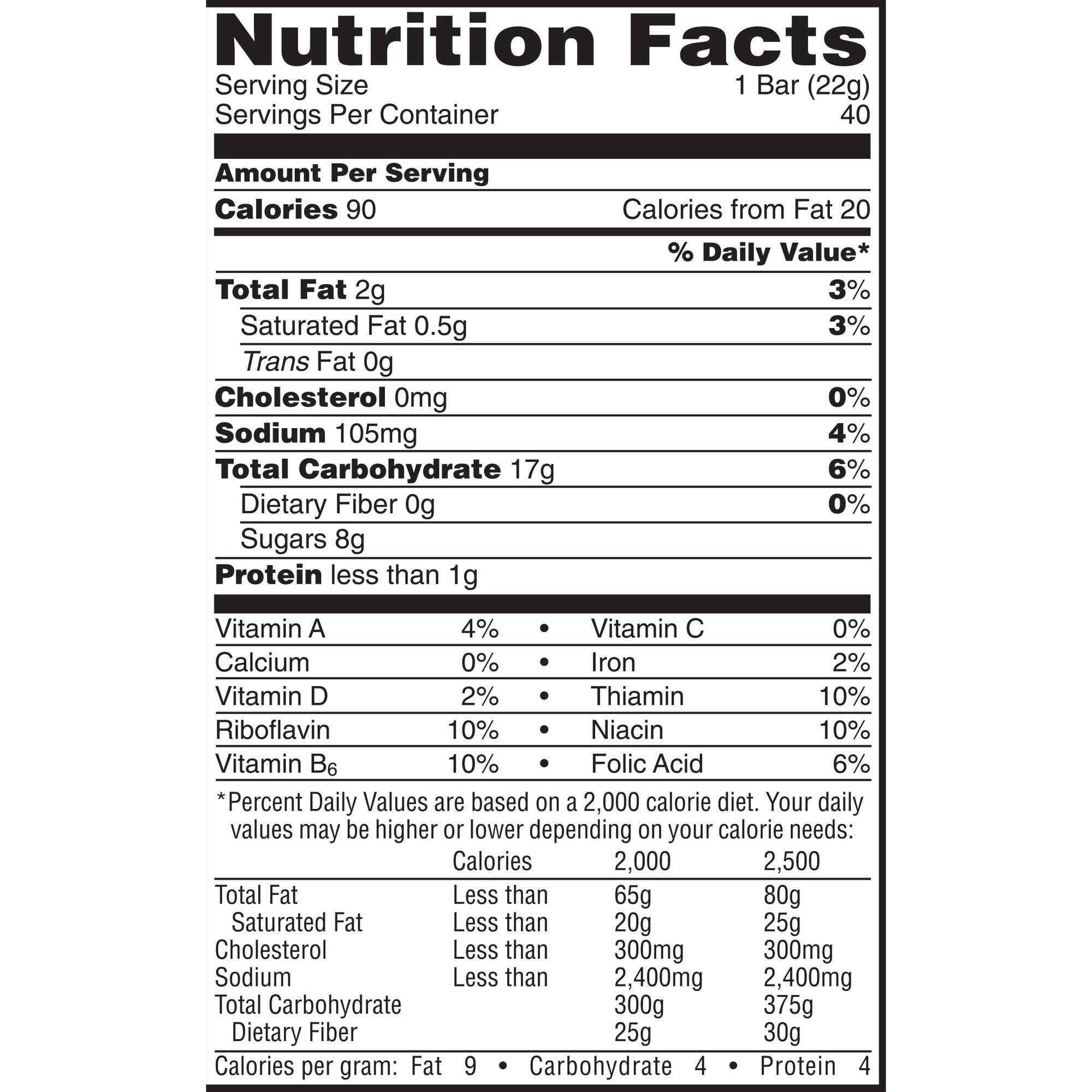 kellogg's rice krispies treats original marshmallow bars, 1.3 oz, 20