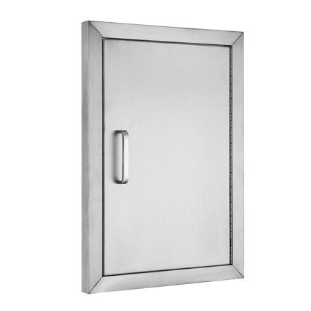 VEVOR BBQ Access Door 304 Stainless Steel BBQ Island Door Single Vertical Door Right-Hinged Access Door 14