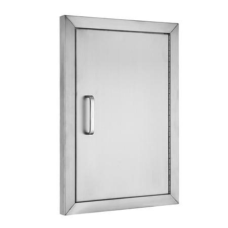 VEVOR BBQ Access Door 304 Stainless Steel BBQ Island Door Single Vertical Door Right-Hinged Access Door 14