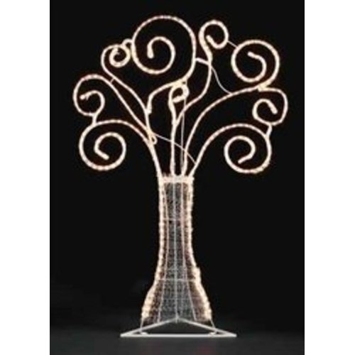 The Holiday Aisle 48'' Pre-Lit Swirl Rope Yard Art Christmas Tree Lighted Display