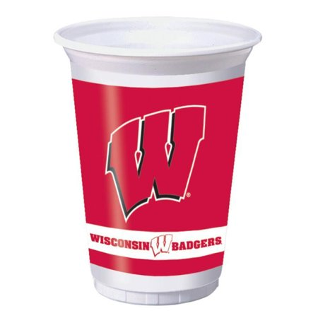 Creative Converting University Of Wisconsin 20 Oz Plastic Cups, 8 ct