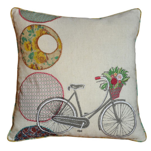 Amity Home Bicycle Accent Cotton Throw Pillow