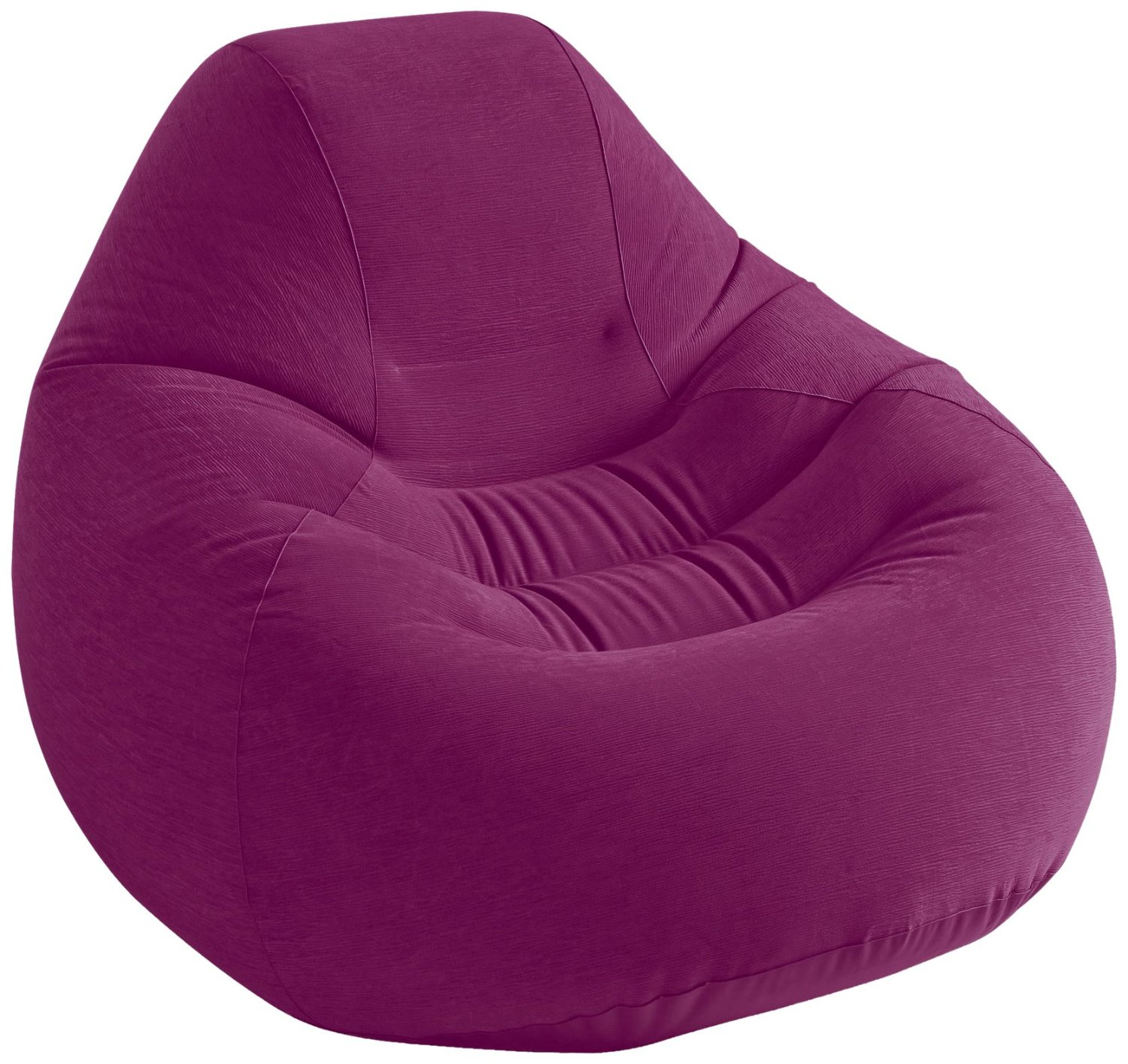 "Intex Deluxe Beanless Bag Inflatable Chair, 48"" X 50"" X 32"", Grape"