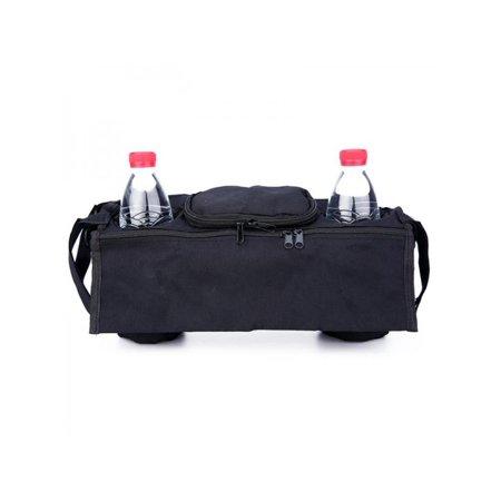 Baby Stroller Storage Bag Tray-type Hanging Bags Milk Bottle Bag Mummy Bag (Diaper Bag Pink And Brown)