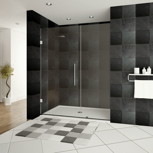 LessCare Ultra-E 48'' x 72'' Hinged Shower Doors with Side Panel