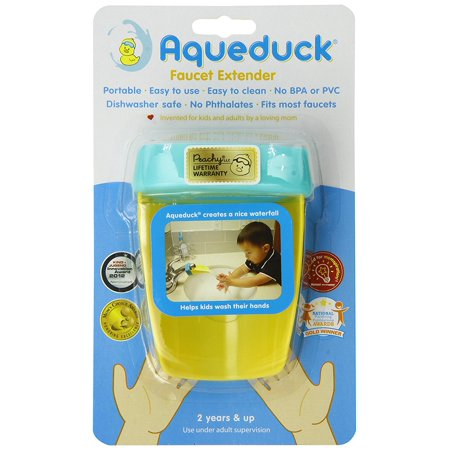 Faucet Extender, Aqua, Facuet chute SingleHandle Safe Cartoon Bath Orange Accessory Sink children Faucet Pack Plus Child combination Gray sink ToddlersSoft.., By Aqueduck