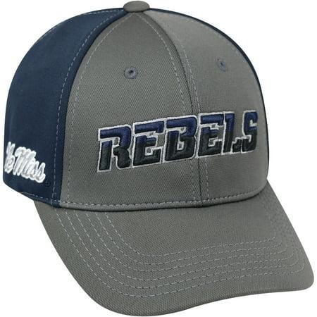 University Of Mississippi Rebels Grey Two Tone Baseball Cap](Ole Miss Hats)