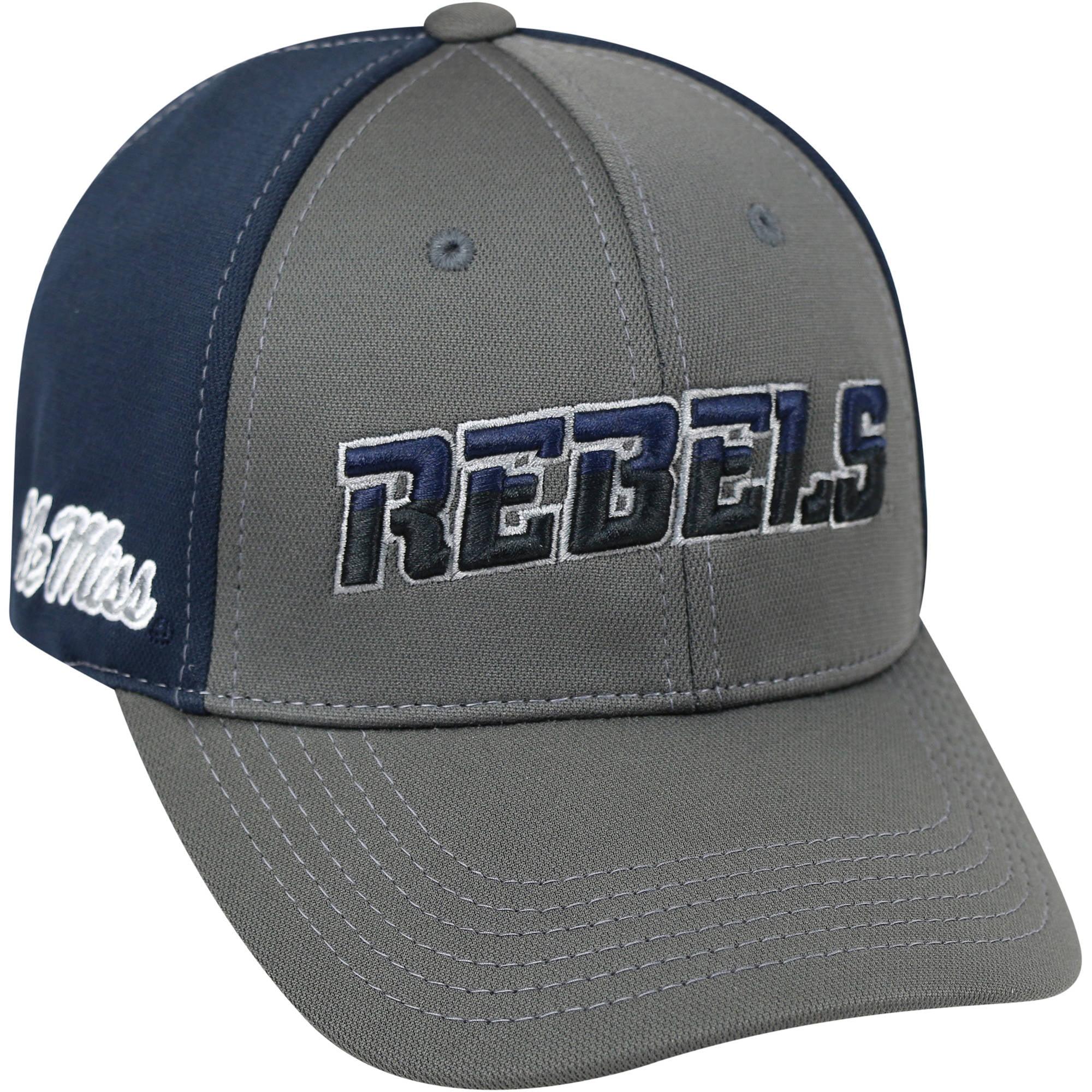 University Of Mississippi Rebels Grey Two Tone Baseball Cap
