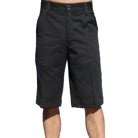 StoneTouch Mens Cotton Twil Chino Shorts #5FK Black-30 Cotton Jean Shorts