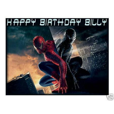 Spiderman 3 edible cake image topper frosting sheet - Spiderman Cake Decorations Kit