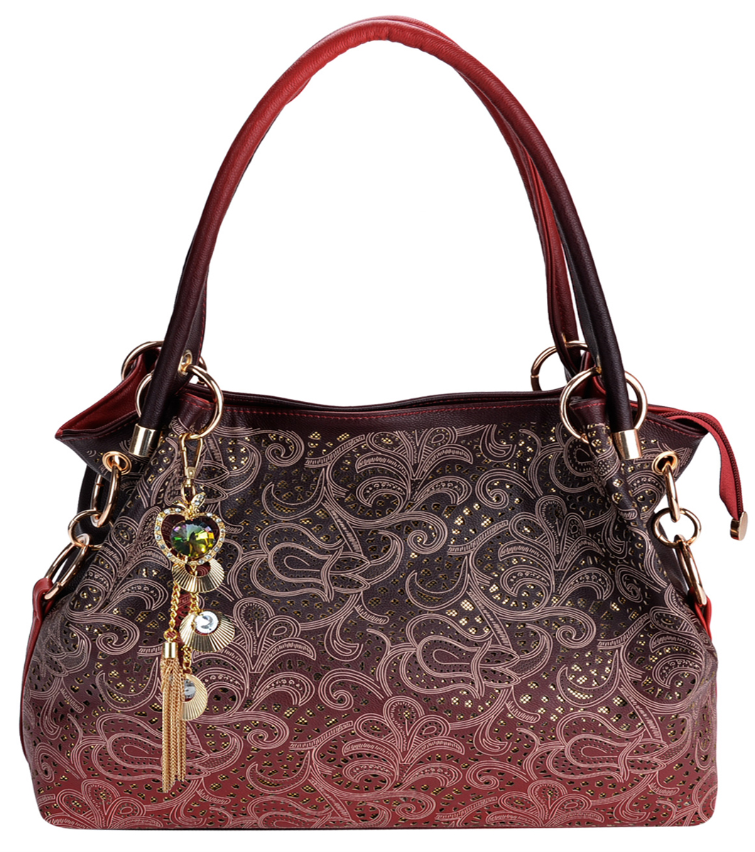 845f45e389b Tinksky - Handbags for Women, Faux Leather Purse Ladies Handbag Vintage Designer  Handbags Shoulder Bag Hollow Out Design with Fine Pendant Fashion Tote Bag  ...