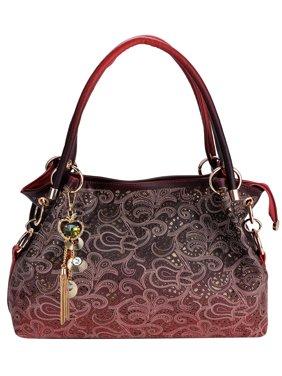 734123649fff8f Product Image Handbags for Women, Faux Leather Purse Ladies Handbag Vintage  Designer Handbags Shoulder Bag Hollow Out