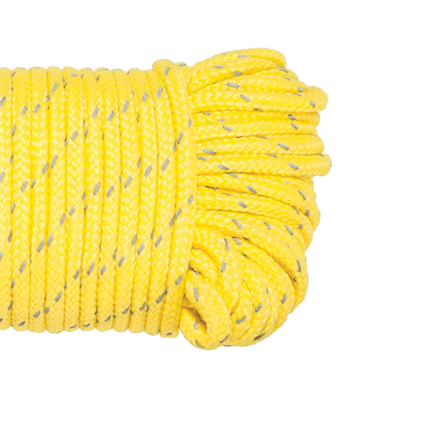 Yellow Stansport 50 Reflective Guy Line Rope