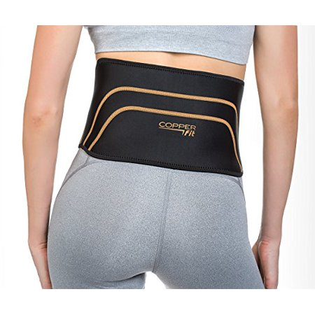 Copper Fit Pro Series Back Support with Hot/Cold Therapy, Black with Copper Trim, Small/Medium - image 4 of 4