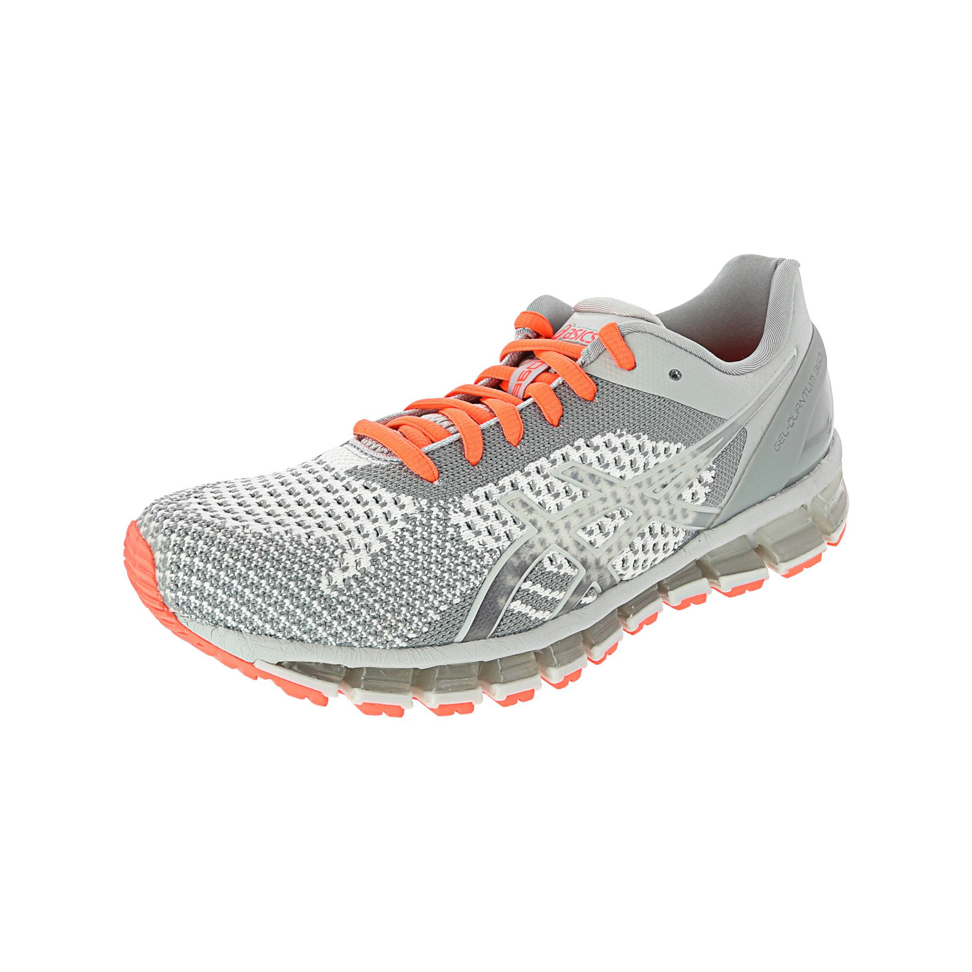 wholesale dealer 08f54 b8921 Asics Women's Gel-Quantum 360 Knit Ankle-High Running Shoe - 8M - Mid Grey  / Glacier Grey / Flash Coral