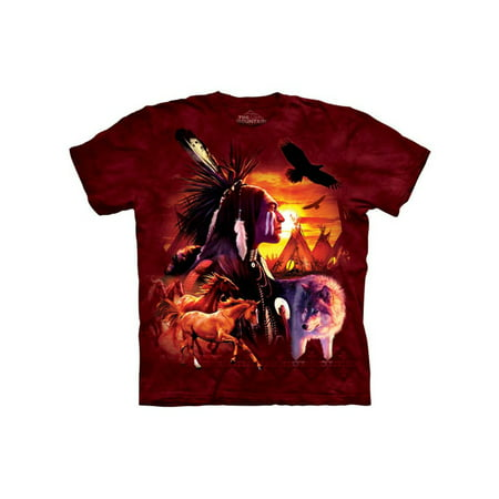 Native American Wilderness Collage Adult T-Shirt Tee Native American War Shirts