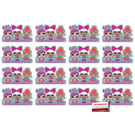 L.O.L. Surprise (16 Pack) Postcard Invitations Birthday Party Supplies Value Pack plus Party Planning Checklist