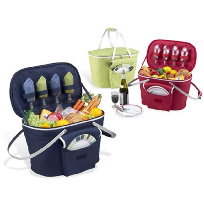 Picnic at Ascot 401-B Collapsible Insulated Picnic Basket in Navy