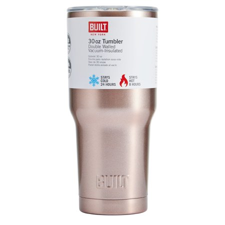 Built 30 Oz Double Wall Stainless Steel Tumbler, Rose Gold