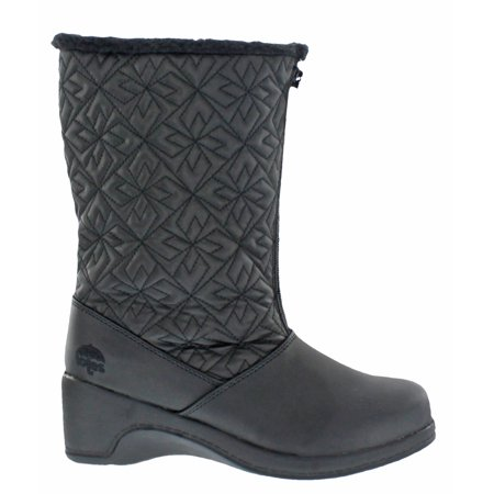 (Totes Women's Joanie Nylex Waterproof Zip Winter Boot)