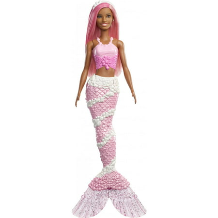 - Barbie Dreamtopia Mermaid Doll with Long Pink Hair