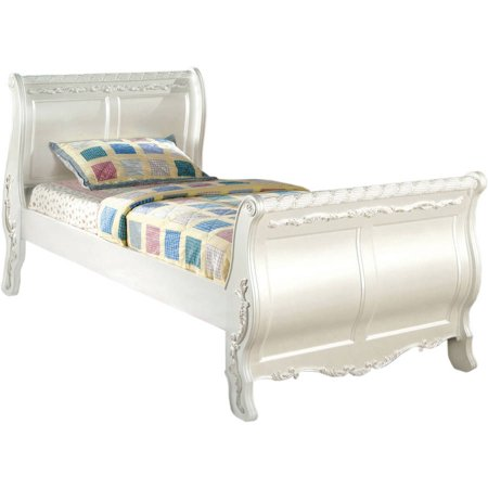Furniture Of America Traditional Twin Bed Pearl White
