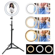 """6.3"""" Ring Light with Stand Tripod Phone Holder Clip LED Selfie Ring Light Dimmable Lighting for iPhone Android Live Streaming Makeup"""