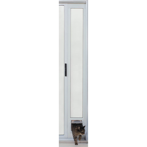Ideal Modular Aluminum Patio Pet Door Cat Flap, Mill Finish