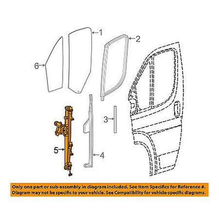 Ram CHRYSLER OEM ProMaster 2500 Front Door-Window Lift Regulator 68267290AA