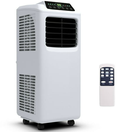 Costway 10000 BTU Portable Air Conditioner & Dehumidifier Function Remote w/ Window
