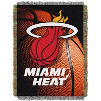 Miami Heat The Northwest Company 48'' x 60'' Photo Real Woven Tapestry Throw - No Size