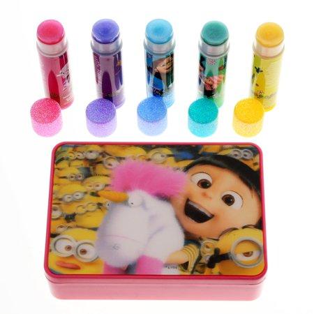 Despicable Me Minions Girls Lip Balm 5pk With Tin Carry Case - Minion Makeup