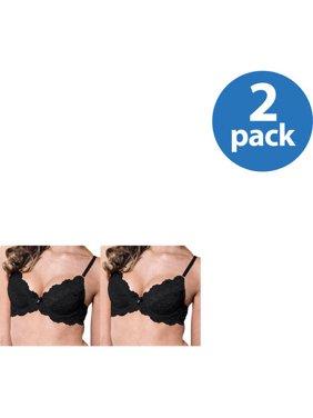 Smart & Sexy Women's Lace Push Up Bra, Style 85046, 2 Pack Value Bundle