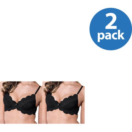 Smart & Sexy Womens Lace Push Up Bra, Style 85046, 2 Pack Value Bundle Body Style Push Up Bras