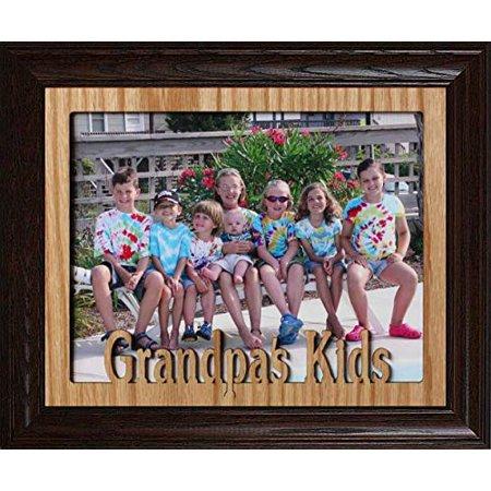 8x10 Grandpa S Kids Landscape Photo Laser Name Frame Gift