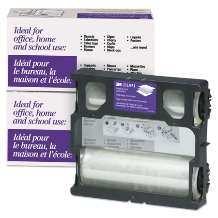 3M Glossy Refill Rolls for Heat-Free Laminating Machines,100 ft. - Laminating System Refill